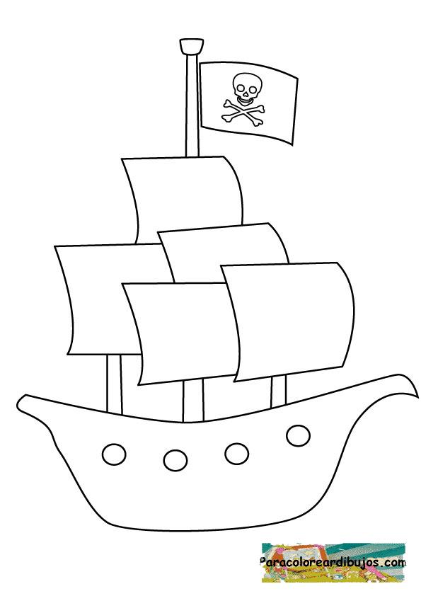 barco pirata para colorear