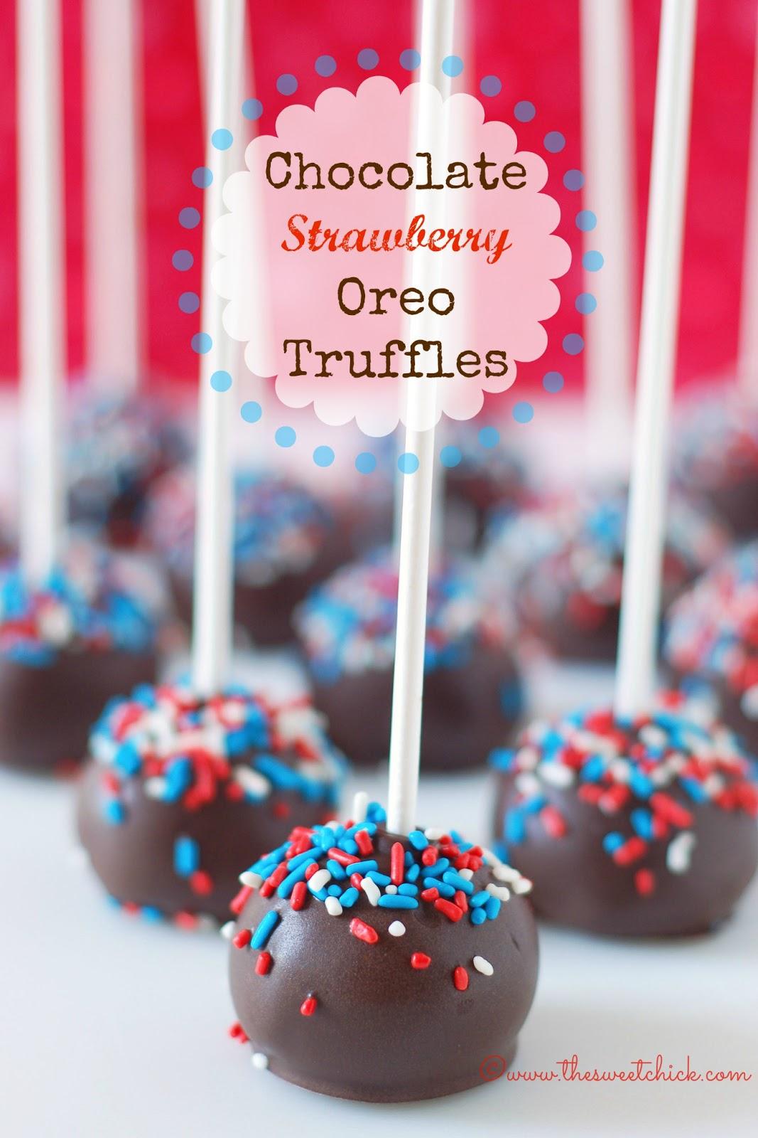 The Sweet Chick Chocolate Strawberry Oreo Truffles