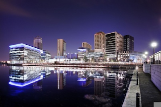 Photograph of BBC North complex at Salford, Greater Manchester