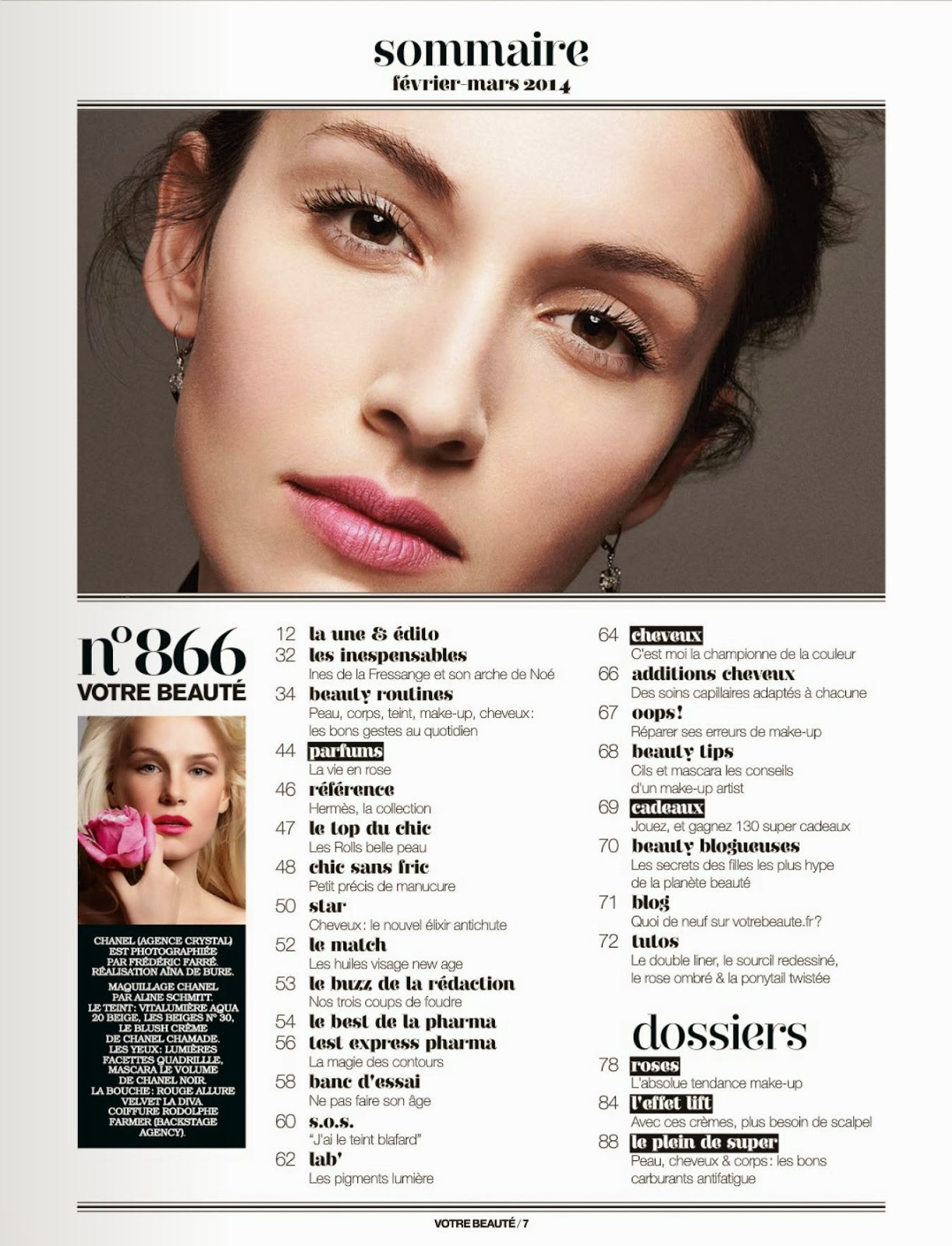 Chanel Forsstrom HQ Pictures Votre Beaute France Magazine Photoshoot February 2014