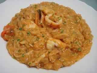 pasta puntalette risotto marisco pescado mejillones queso