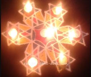 Colourful rangoli for Diwali -1