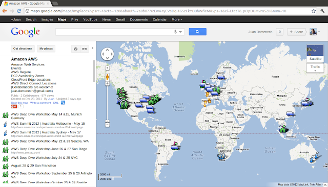 Amazon Web Services Google Maps Map
