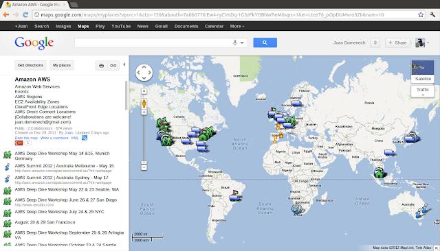 Amazon Web Services Google Maps Map