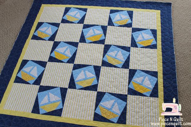 Piece N Quilt: Sailboats ~ A baby boy quilt