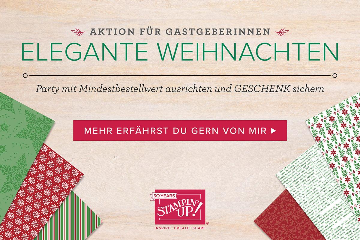 """Gastgeberinnen Designerpapier """"Elegante Weihnachten"""" gratis im September!"""
