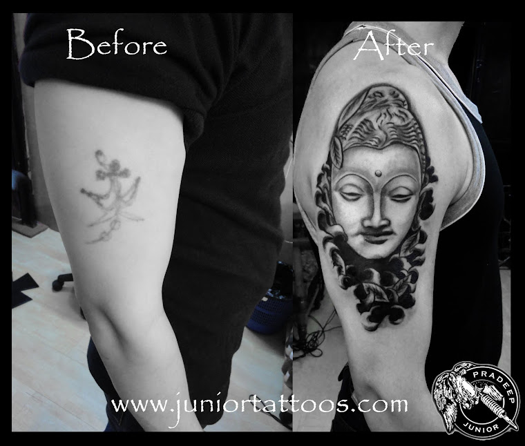 Buddha Cover up tattoo