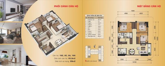 Thiết kế căn hộ 10C, 2C, 2A, 16A