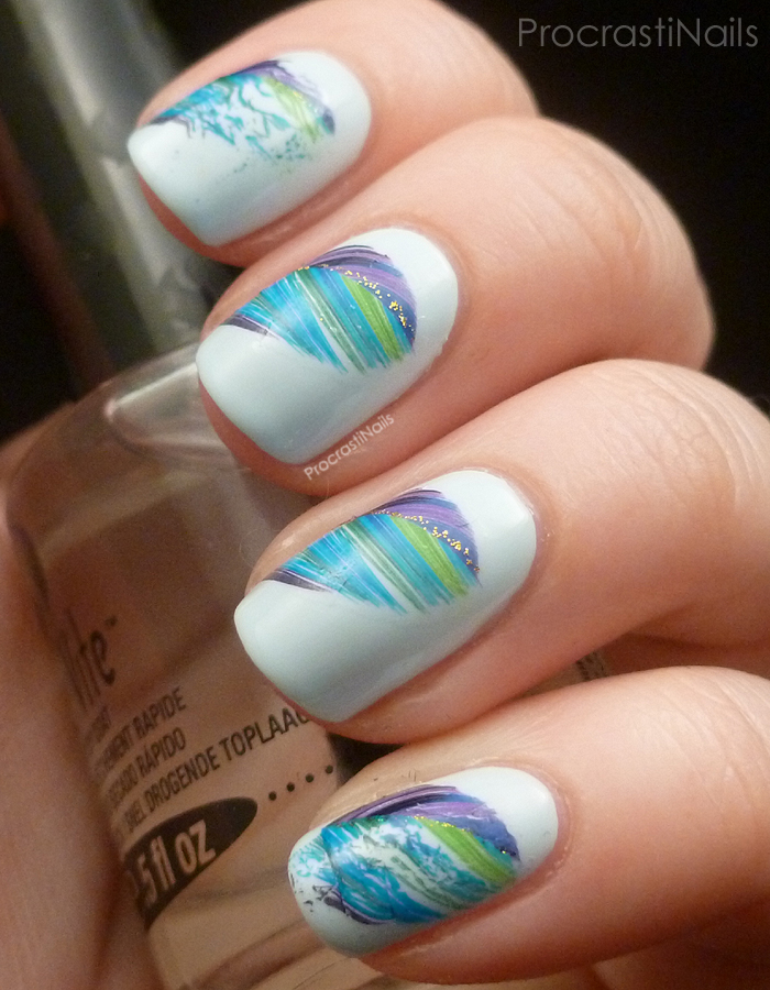 Nail Art + Review // Born Pretty Store Feather Water Decals ...