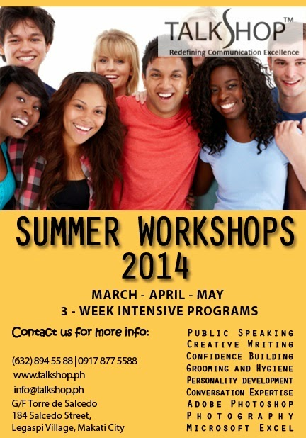 TalkShop's Summer Workshops