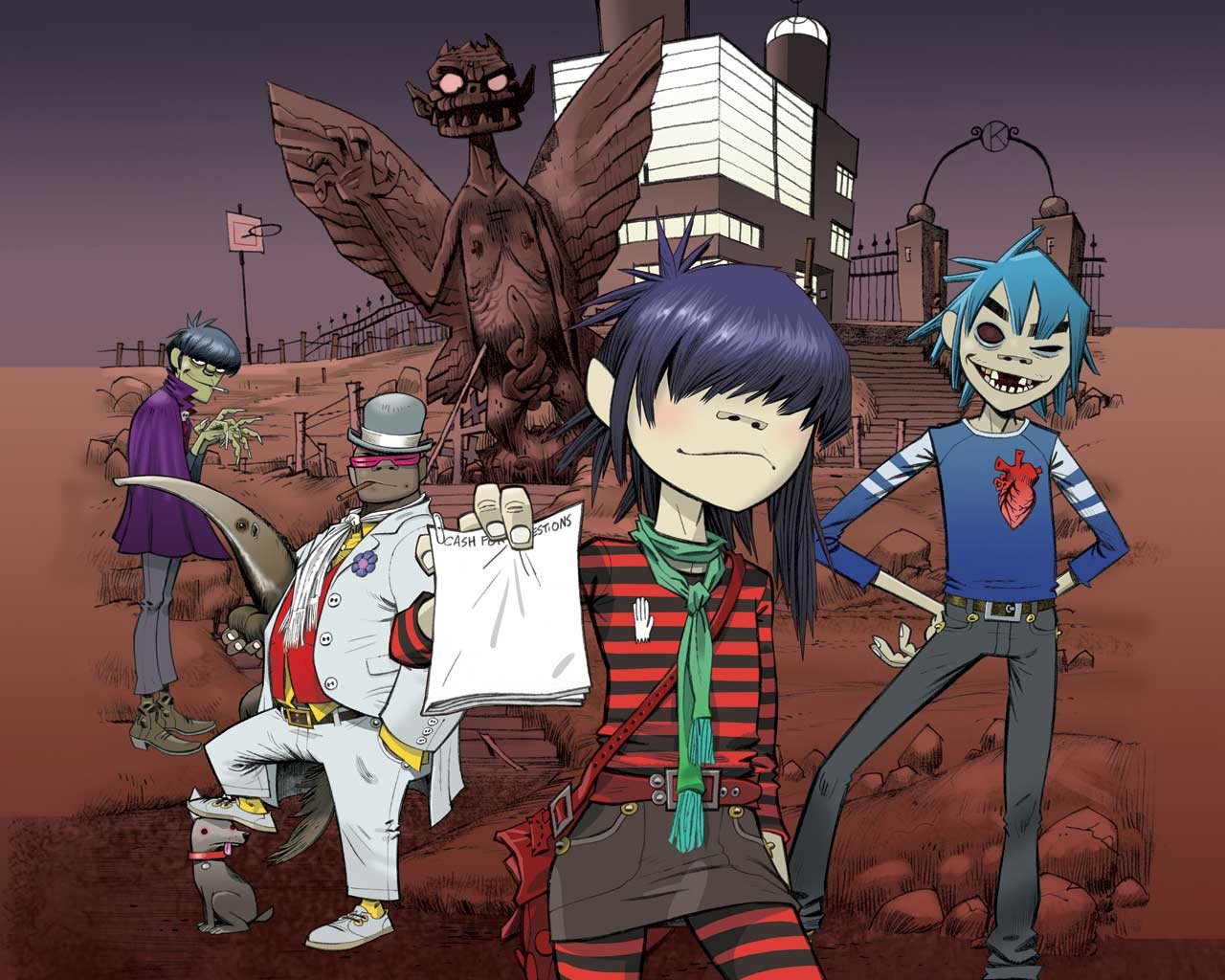 Stuart Damon HD Wallpapers Spin Serpent Gorillaz Monsters of Media