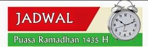 Waktu Imsak 1435 Hijriah Daerah