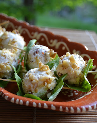 ... Incomparable Basil Wrapped Goat Cheese Balls for our Own Hunger Games