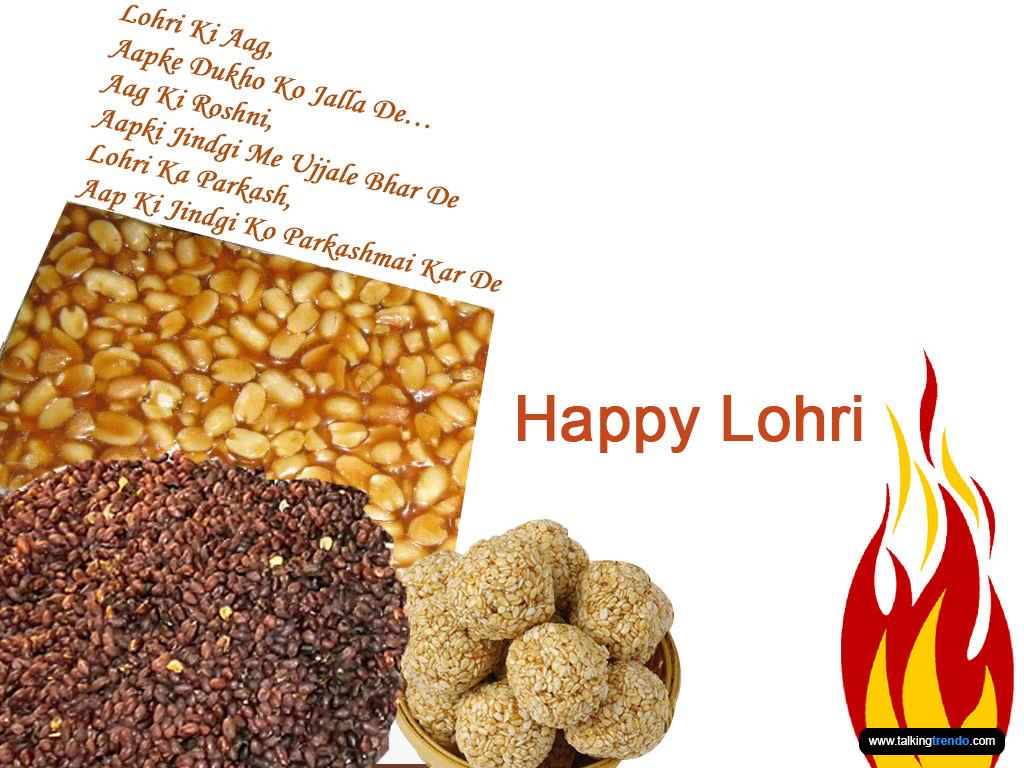 Happy Lohari 2016 sms message status quotes Punjabi Hindi Greetings Card wallpaper