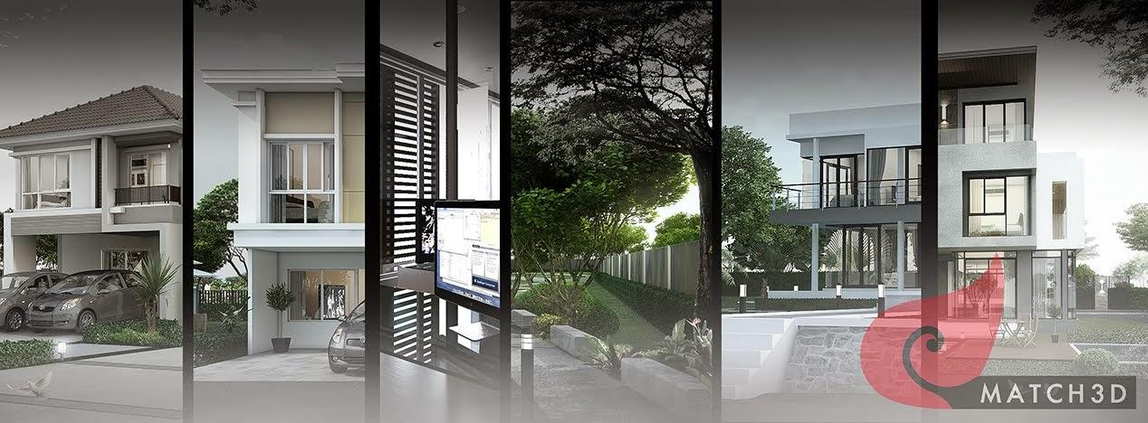 รับทำ 3d perspective Exterior Interior Landscape