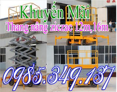 Thang nâng đơn, thang nâng đôi, thang nâng hàng giá rẻ 0985349137