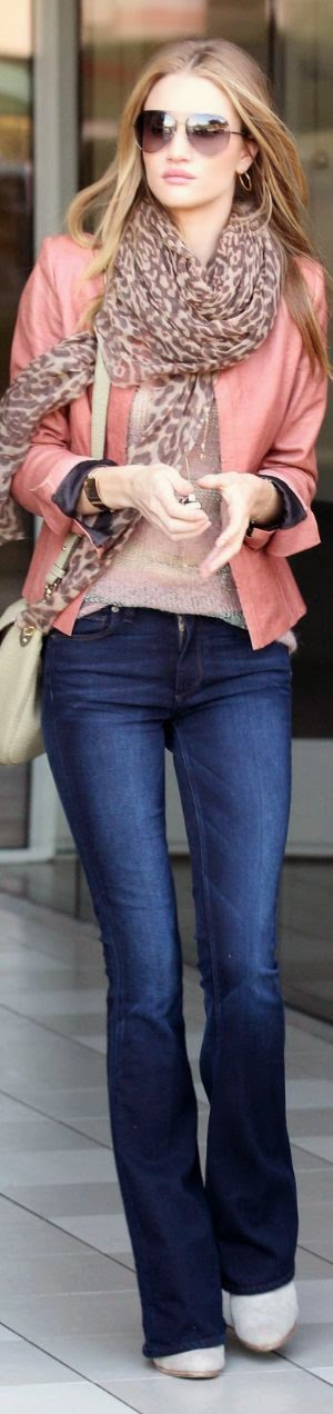 Scarf with outfit Jeans