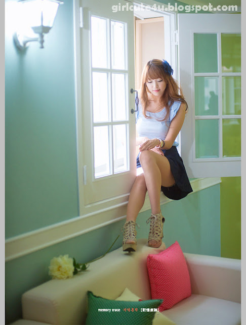 2 Lee Eun Hye in Blue-very cute asian girl-girlcute4u.blogspot.com
