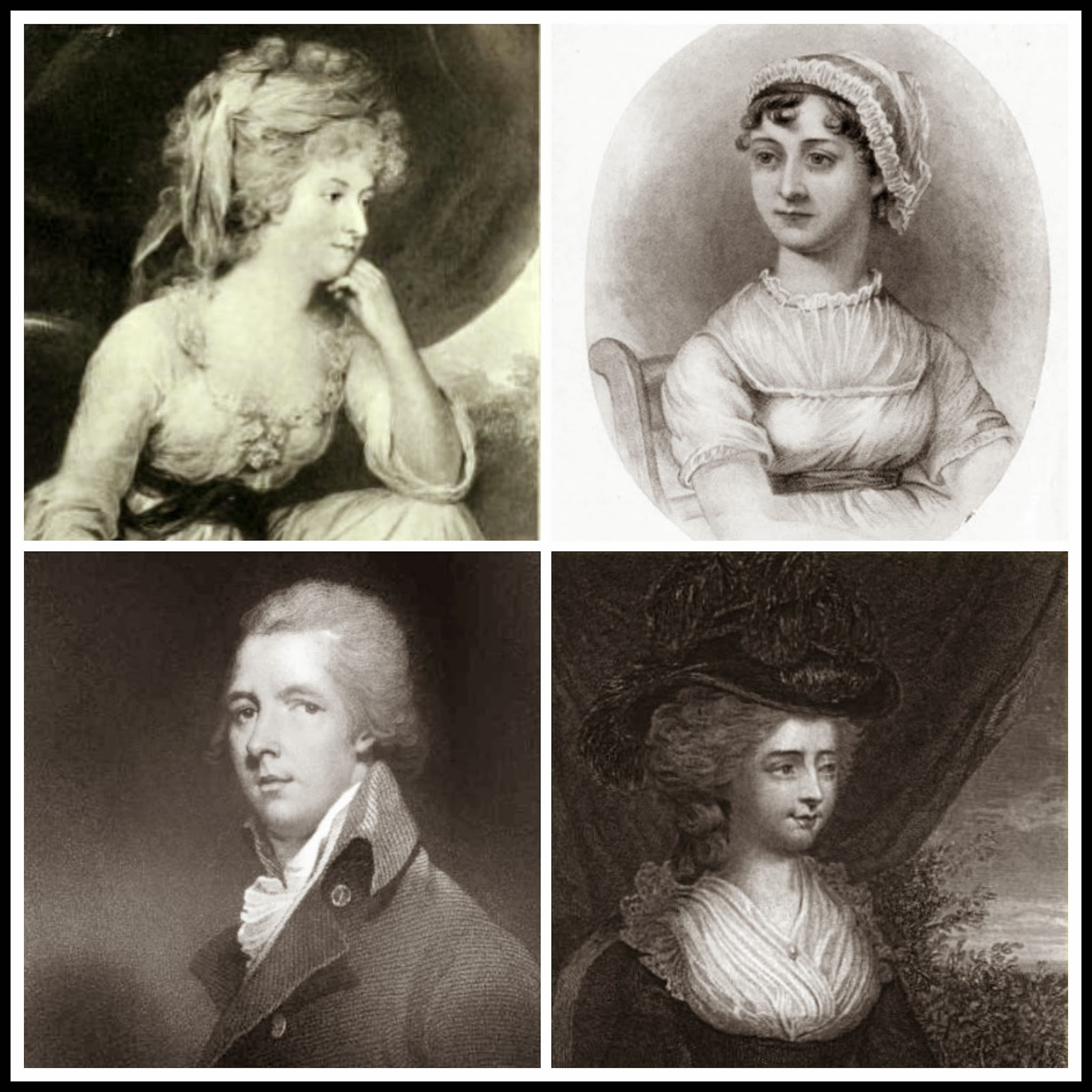 Mrs Fitzherbert from The Creevey Papers (1904); Jane Austen from A Memoir of Jane Austen by JE Austen Leigh (1871)  William Pitt from Memoirs of George IV by R Huish (1830)  Fanny Burney from Diary and letters of Madame D'Arblay (1846)