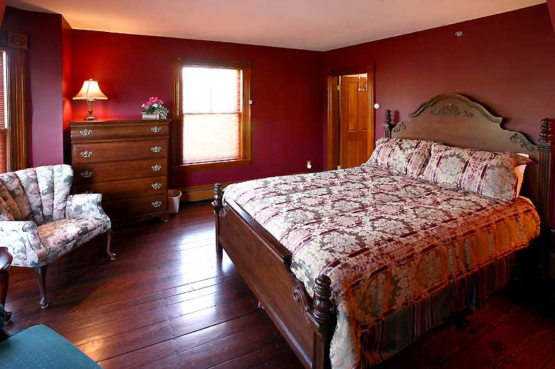 Bedrooms with Burgundy Walls