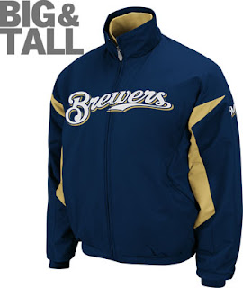 Big and Tall Milwaukee Brewers Thermal Jacket