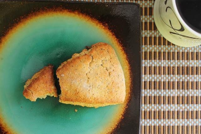 Gluten Free Lemon Poppyseed Scones