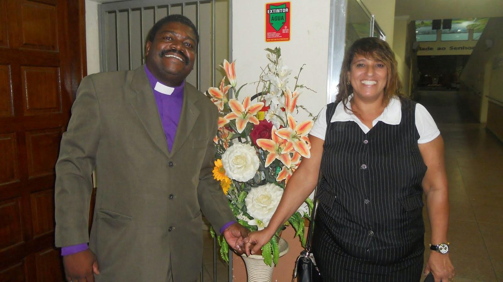 Profº Capelão Elias Batista e Capelã Eliane Helena