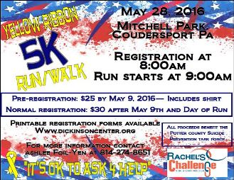 5-9/5-28 Yellow Ribbon Run/Walk