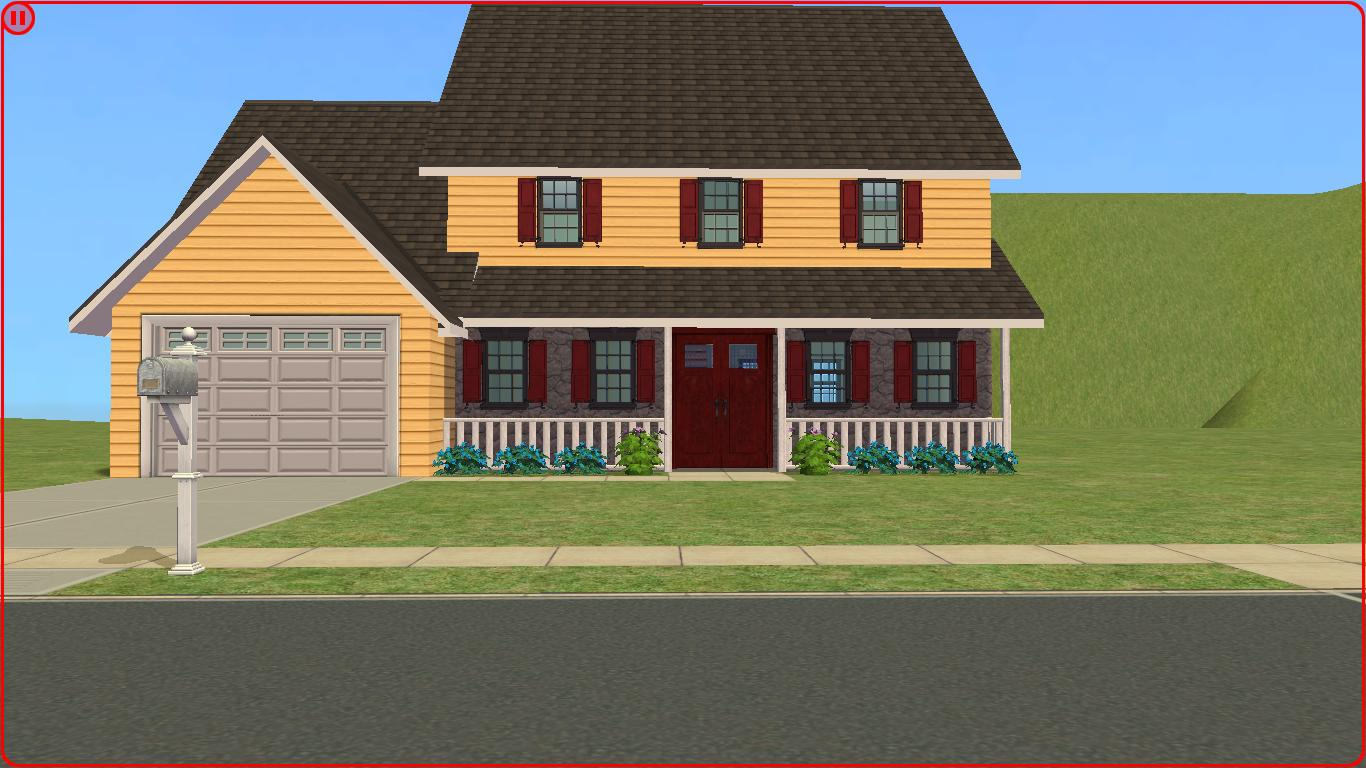 Sims 2 lot downloads 2 story family house for The family house