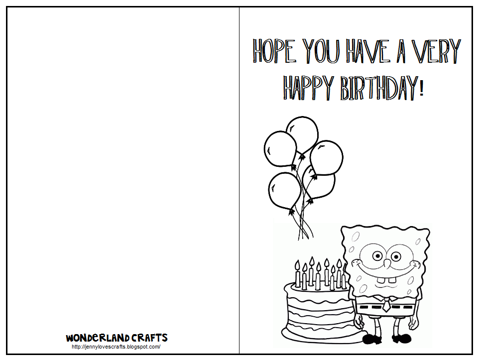 It is a photo of Eloquent Foldable Printable Birthday Card