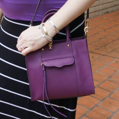 AwayFromTheBlue Blog | Rebecca Minkoff plum mini MAB tote bag