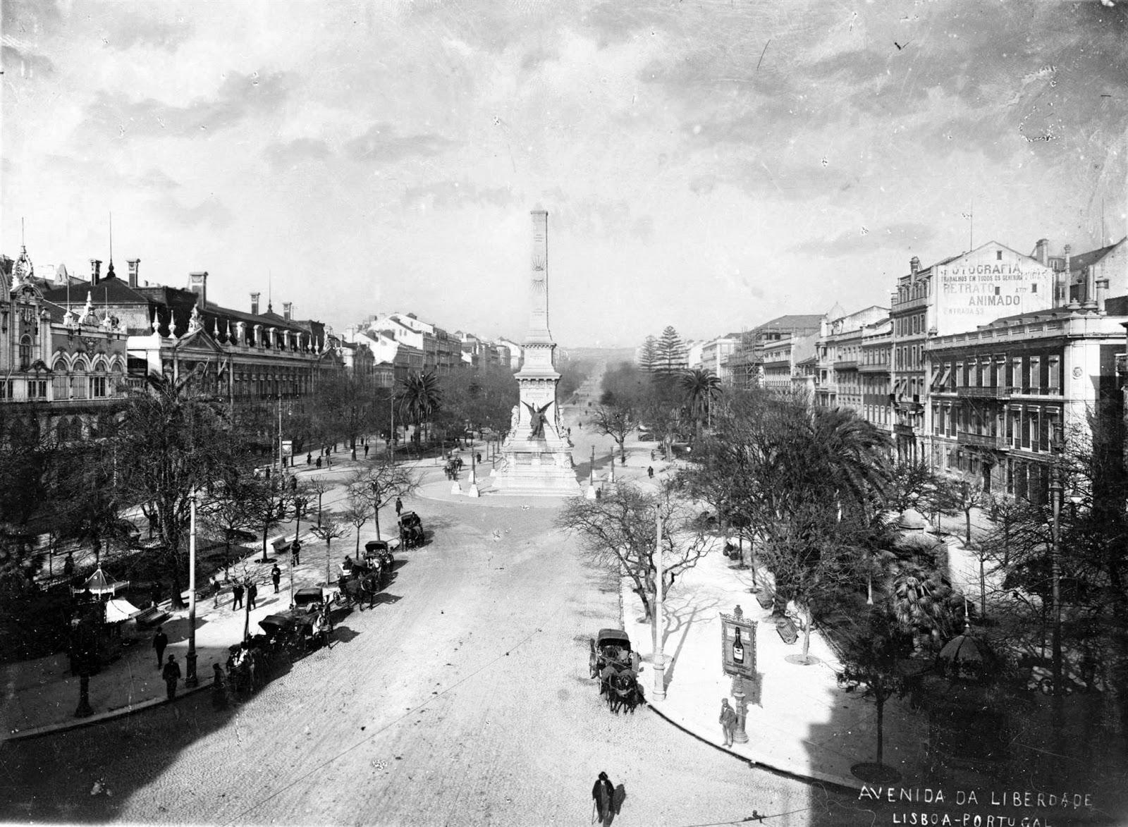 Praça dos Restauradores Lisbonne 1900