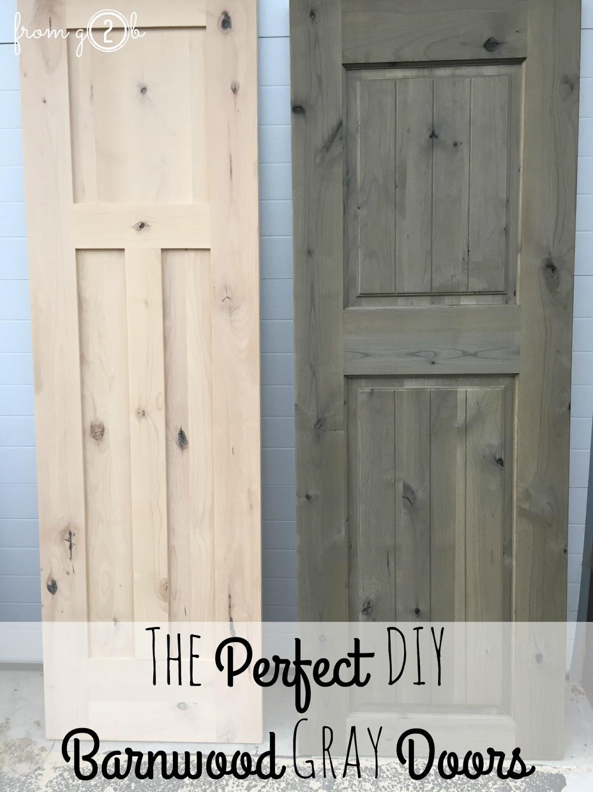 November 11 2015 & from Gardners 2 Bergers: The Perfect DIY Barnwood Gray Doors