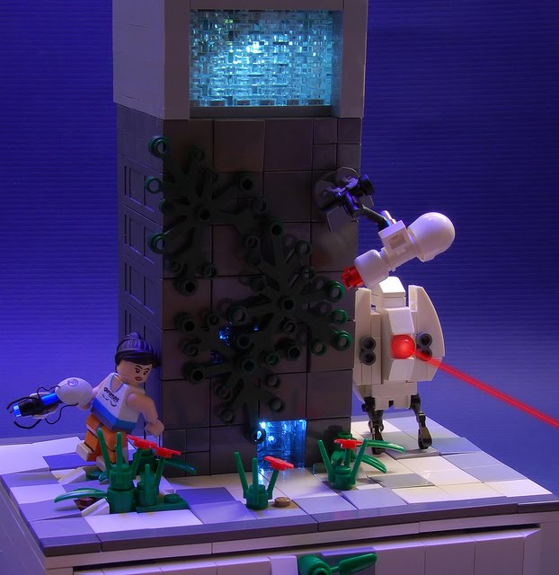 portal 2 wallpaper chell. Lego Portal 2 diorama