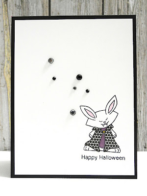 Vampire bunny card by Jennifer Ingle for Newtons Nook Designs