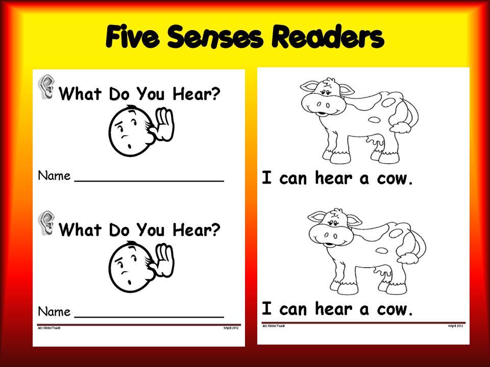Five senses emergent reader packet