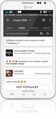 Preview BBM White Black 37154 - BBM Android V2.10.0.35