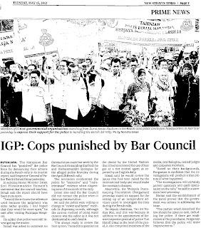 Keratan Akhbar New Straits Times 15 Mei 2012