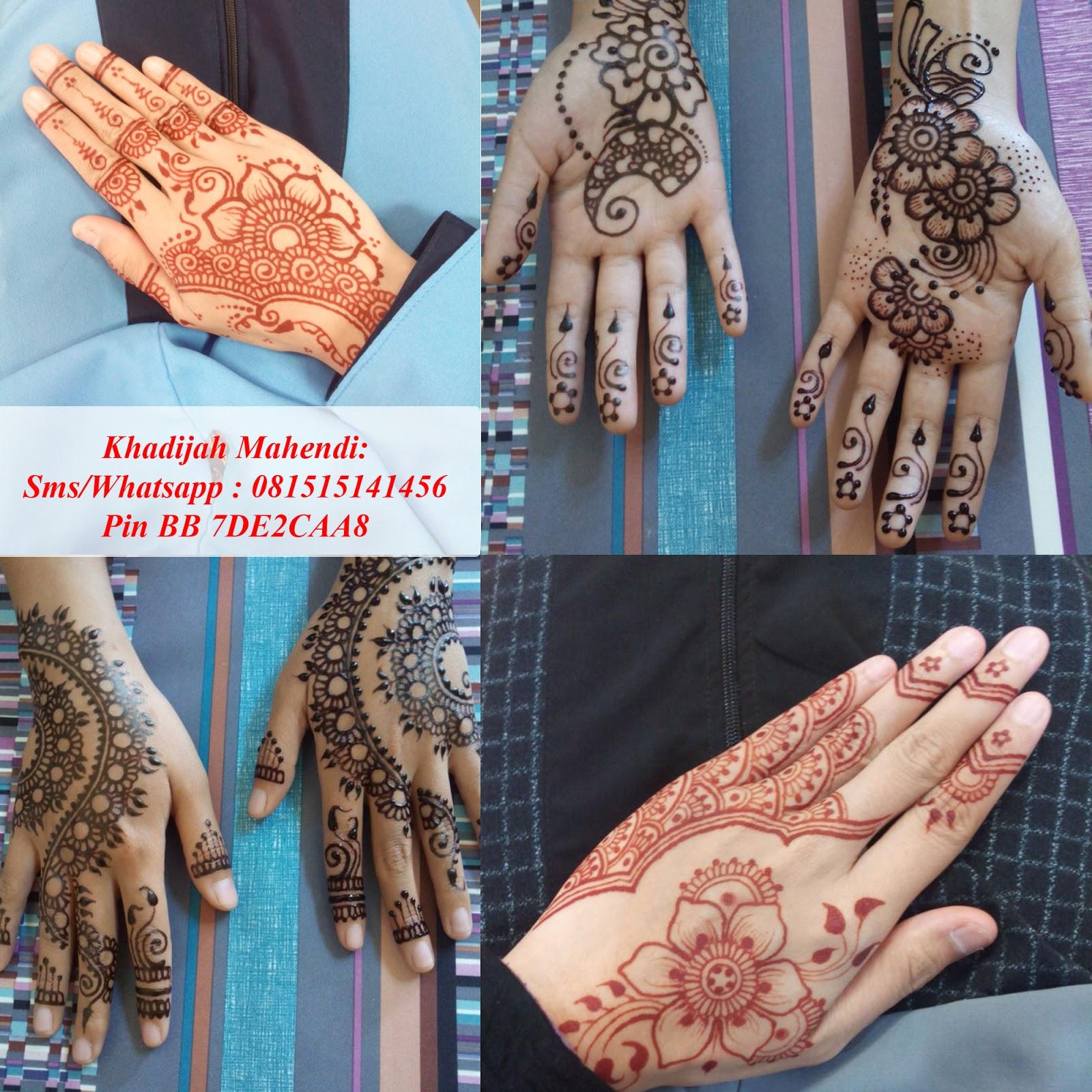 Artis Henna Surabaya Khadijah Mahendi 081515141456 Khadijah