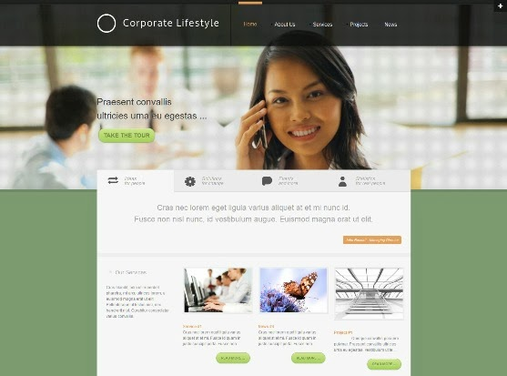 Corporate Lifestyle corporate Joomla Template