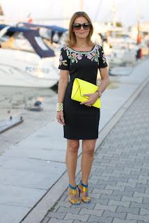 el equipo del verano, elegante mini vestido negro, Chi Chi Londres, Moda y Cookies, blogger de moda italiana