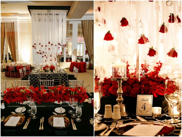 Fabulous Red Black and White Wedding by Nadia D Photography - Aisle ...
