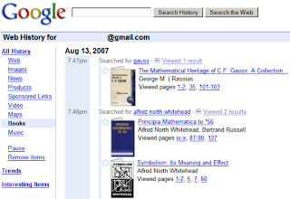 Old school Googley: here's a typical Google book serach results page from two years ago.
