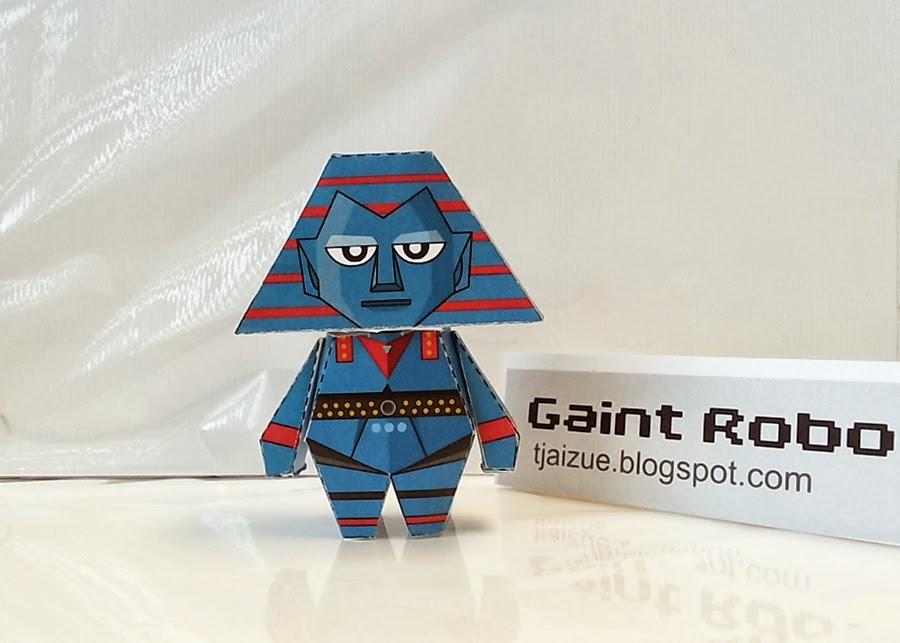 Giant Robo paper toy