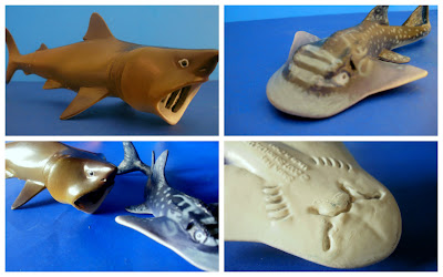 Shark Ray Figure, Basking Shark Figure, Realistic Marine Animal Figures, Animal Toys, Educational Toys, Safari LTD