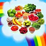 Decore seu prato com cores do arco-íris