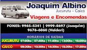 VIAJE DE JUCURUTU A CAICÓ COM JOAQUIM ALBINO