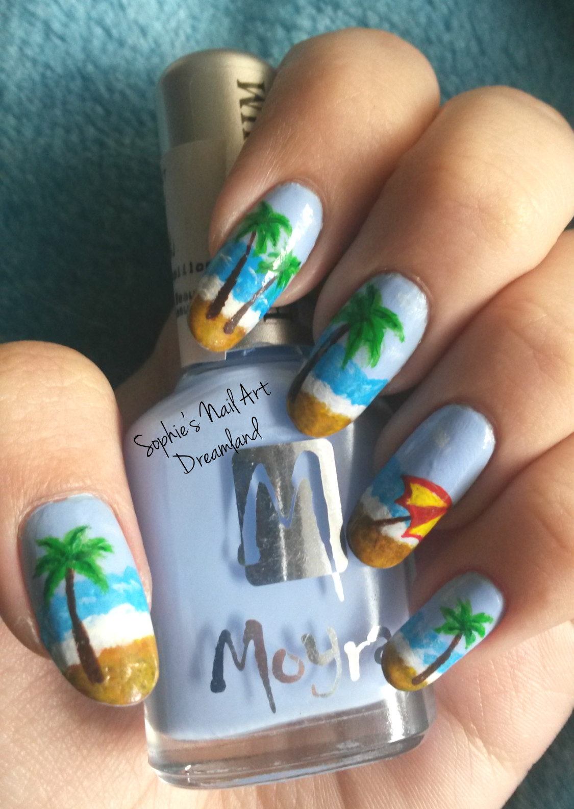 Nail Art Marathon 2015 - 4. Palm trees | Sophie\'s Nail Art Dreamland