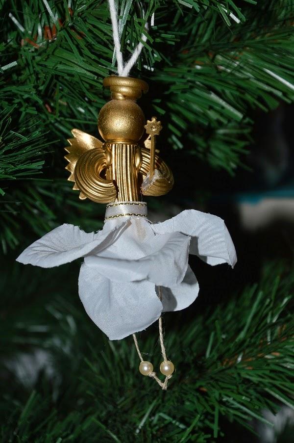 ozdoby świąteczne z makaronu