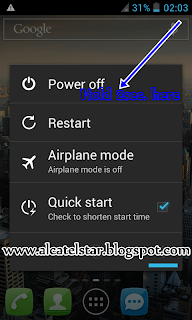 reboot into safe mode android alcatel star